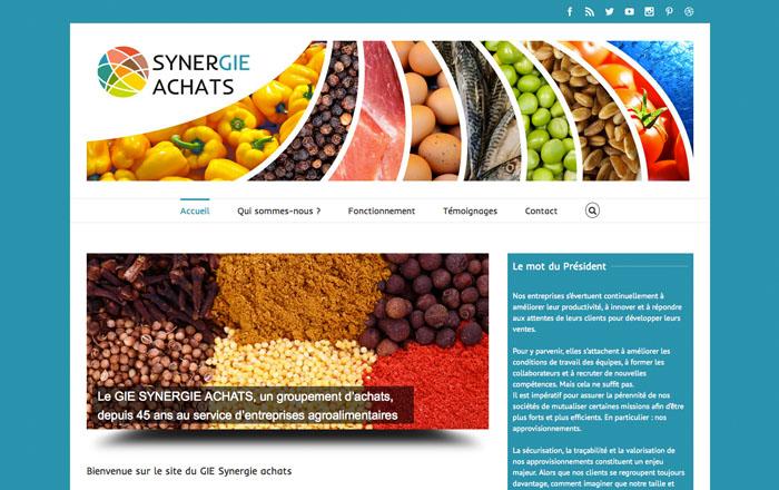 Le nouveau site du GIE Synergie Achats